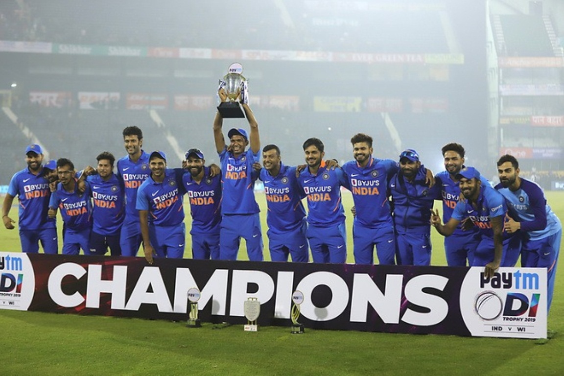 India beat the West Indies 2-1 in the recently concluded ODI series. Photo courtesy: Twitter/ImVKohli