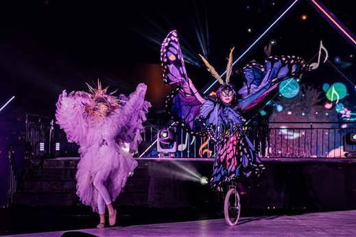 Leading unicycle troupe from Japan, Watarida Kawasaki Unicycle Club, decked in beautiful butterfly costumes performing an array of dazzling dances. Photo courtesy: Urban Redevelopment Authority