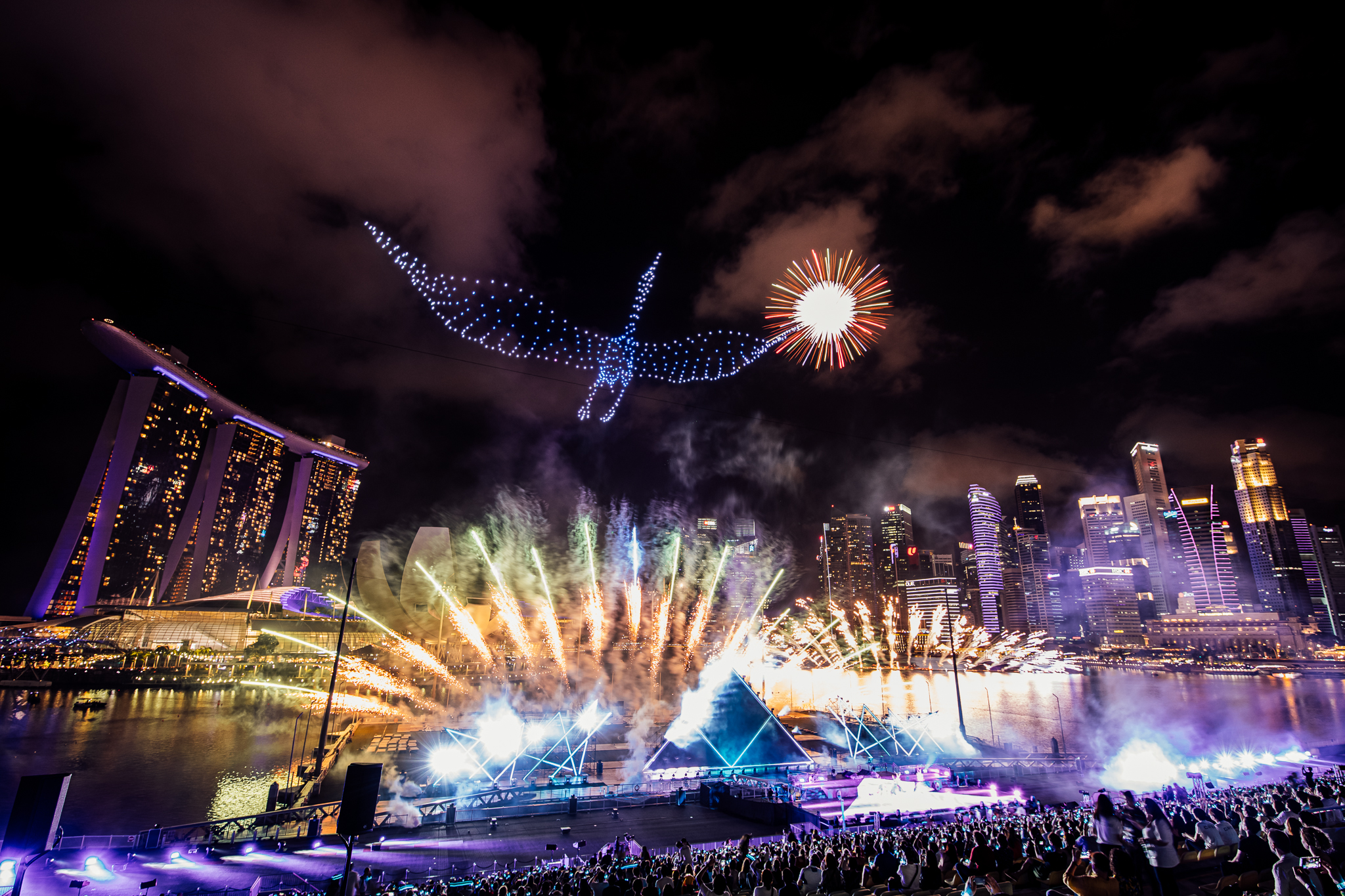 Featuring a choreography involving 500 drones, STAR ISLAND is a multi-sensory fireworks musical show! Did you attend the show? Which was your favourite formation? Photo courtesy: Urban Redevelopment Authority
