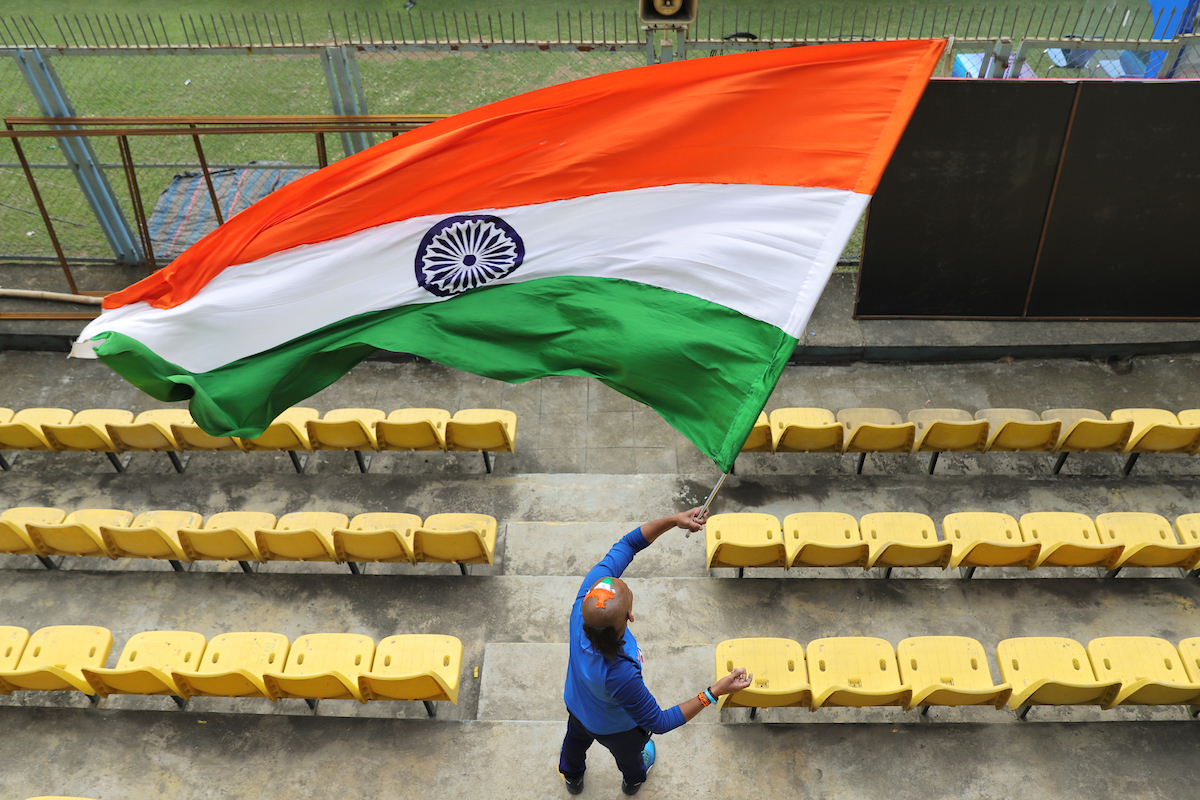 Indian fans were geared up and raring to cheer the team at India's first Twenty20 International (T20I) of the year 2020. Photo Courtesy: BCCI Twitter