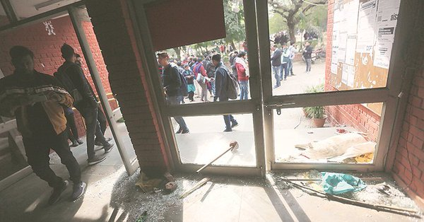 At least 28 people, including JNU Students' Union president Aishe Ghosh, were injured as chaos reigned on the campus for nearly two hours.