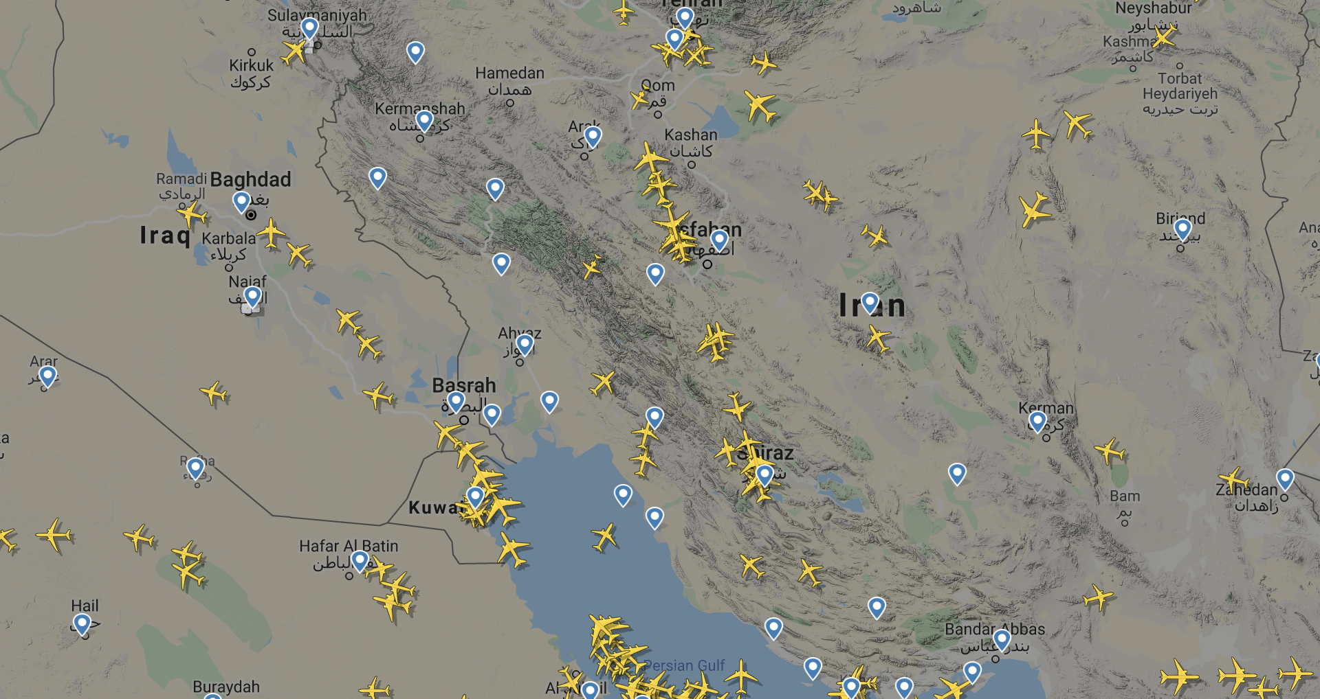 Screenshot: Flightradar24