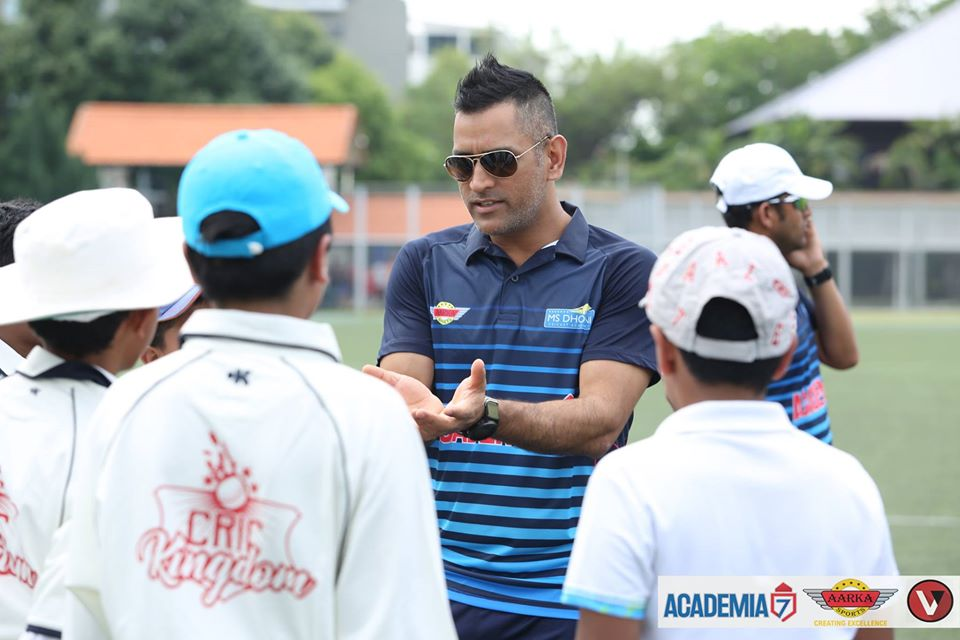 The MS Dhoni Cricket Academy Singapore, launched in 2018, has parted ways with CricKingdom and partnered with SportyGo Cricket Academy. Photo courtesy: Facebook/MS Dhoni Cricket Academy Singapore