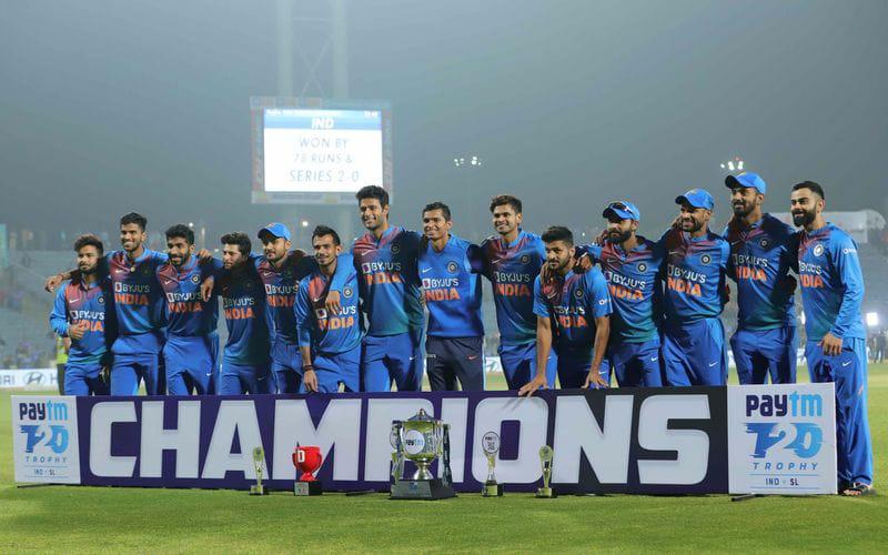 A 78-run win the 3rd T20I against Sri Lanka in Pune gave India a 2-0 series win. Photo courtesy: Twitter/@imVkohli