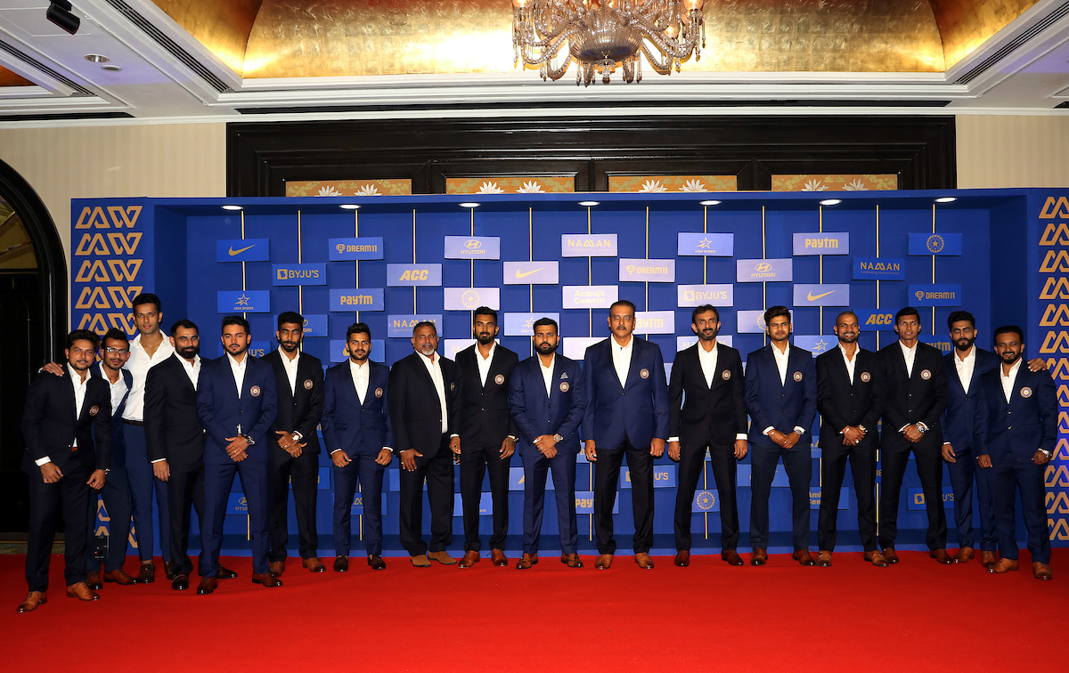 The Indian men's cricket team at the BCCI Awards in Mumbai on January 12. Photo courtesy: Twitter/@BCCI