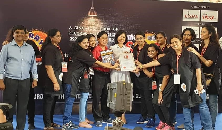 LISHA created a buzz by organising a Curry Fiesta, headed by its Ladies Wing, that got a place in the Singapore Book of Records. Photo Courtesy: LISHA