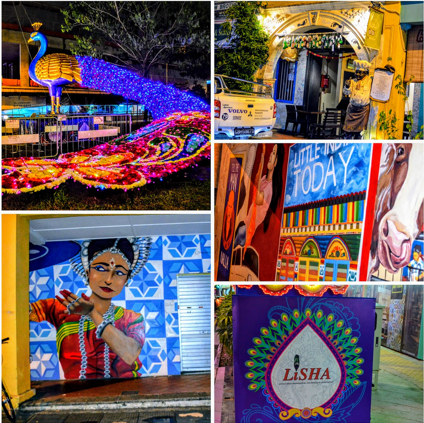 Today, Little India's Art Walk is a colourful amalgmation of all that the precinct represents and is a much photographed tourist attraction. Photo: Connected to India