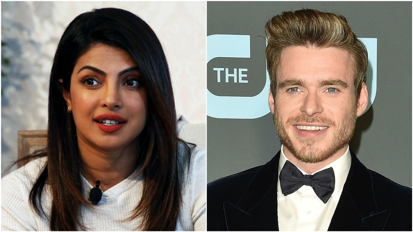 Priyanka Chopra and Game of Thrones actor Richard Madden to star in Amazon's Citadel. Photos courtesy: Wikimedia and Twitter/@armani