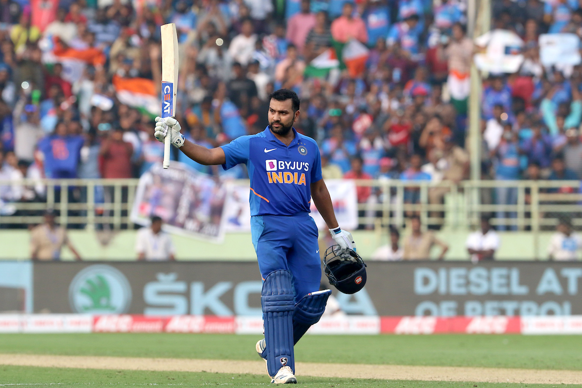 Rohit Sharma became the fastest to reach 7000 ODI runs as an opener. File photo courtesy: Twitter/@BCCI