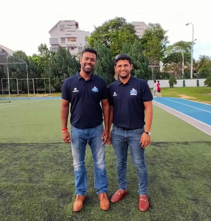 Vishal Sharma, brother of Rohit Sharma and Chetan Suryawanshi, former captain of the Singapore cricket team at St Patricks school in Singapore. Photo: Connected to India