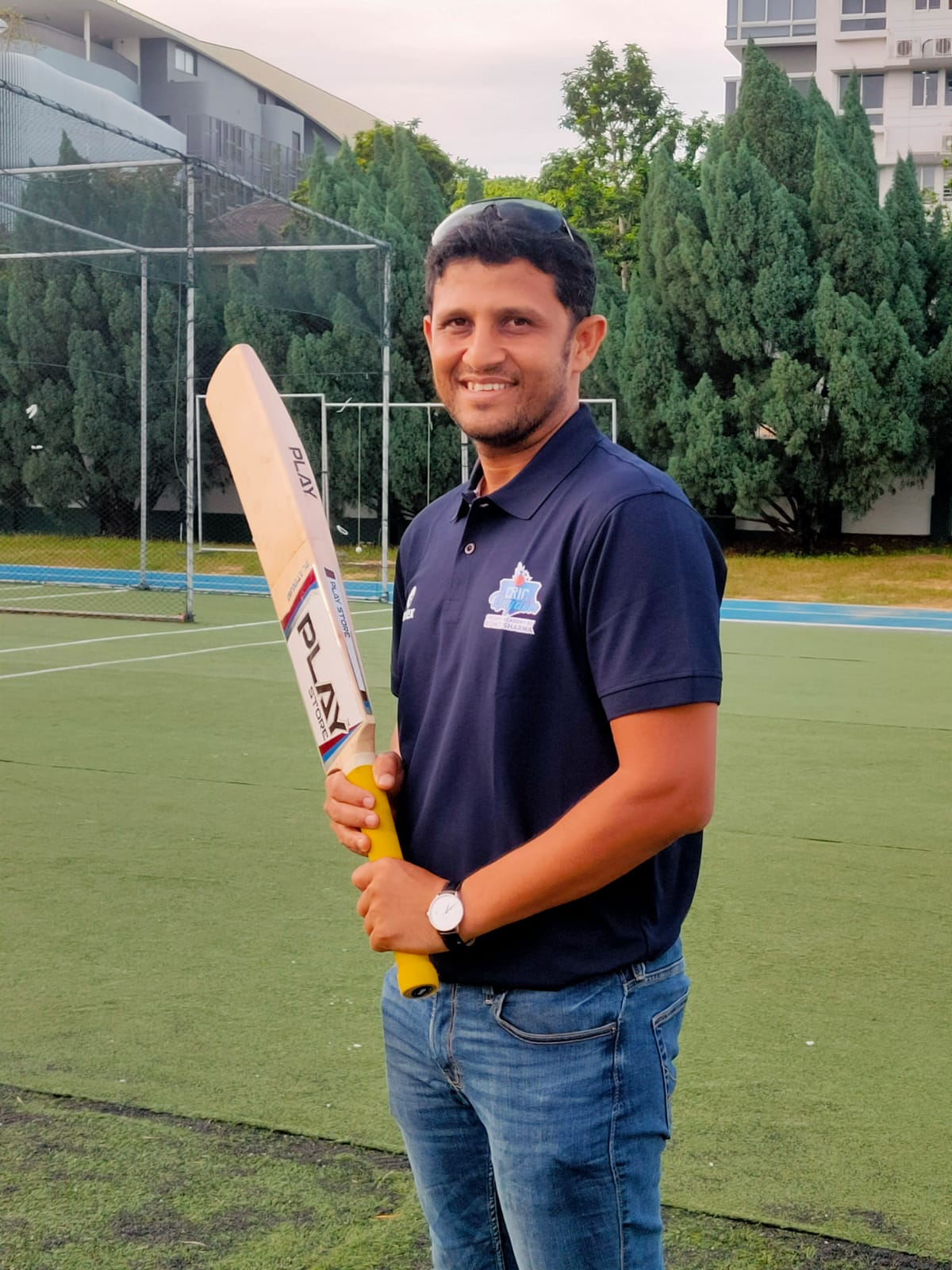 Chetan Suryawanshi has led Singapore's National Cricket team and seen the island nation rise from a ranking which was in 90's to the current ranking in the 20's . Photo: Connected to India