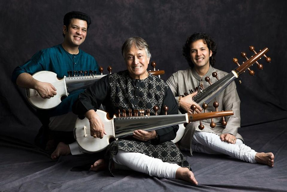 Legendary Indian classical musician Amjad Ali Khan, will be joined by his sons, Amaan Ali Bangash and Ayaan Ali Bangash for the concert with the Singapore Chinese Orchestra. Photo Courtesy: Indian High Commission, Singapore