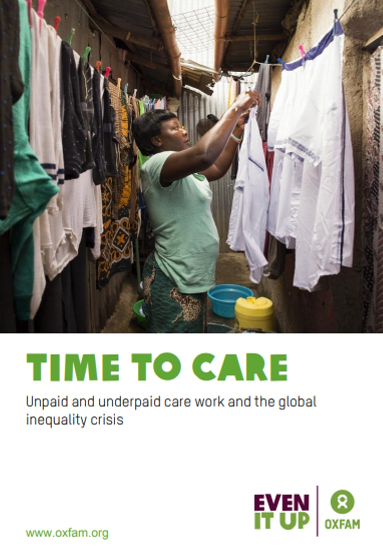 Oxfam has released its study entitled 'Time to Care' ahead of the 50th Annual Meeting of the World Economic Forum (WEF) in Davos. Photo courtesy: www.oxfam.org