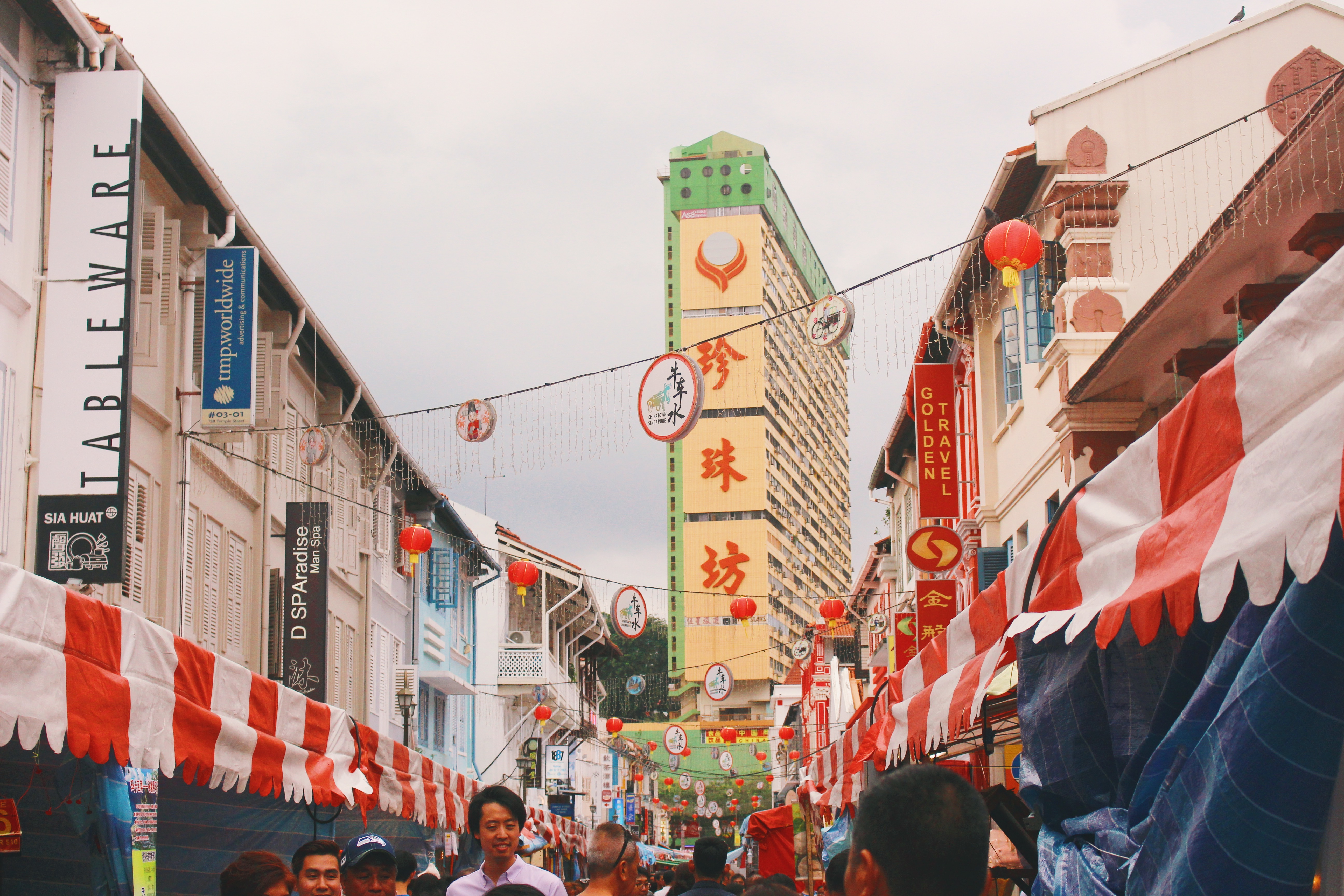 For the older generation, Chinatown remains the default shopping space for Chinese New Year goods. Photo: Connected to India