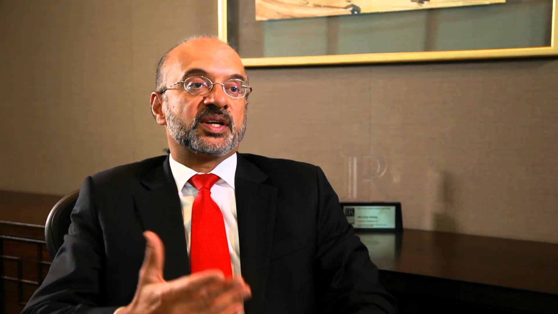 Piyush Gupta, CEO of DBS. Photo courtesy: Youtube