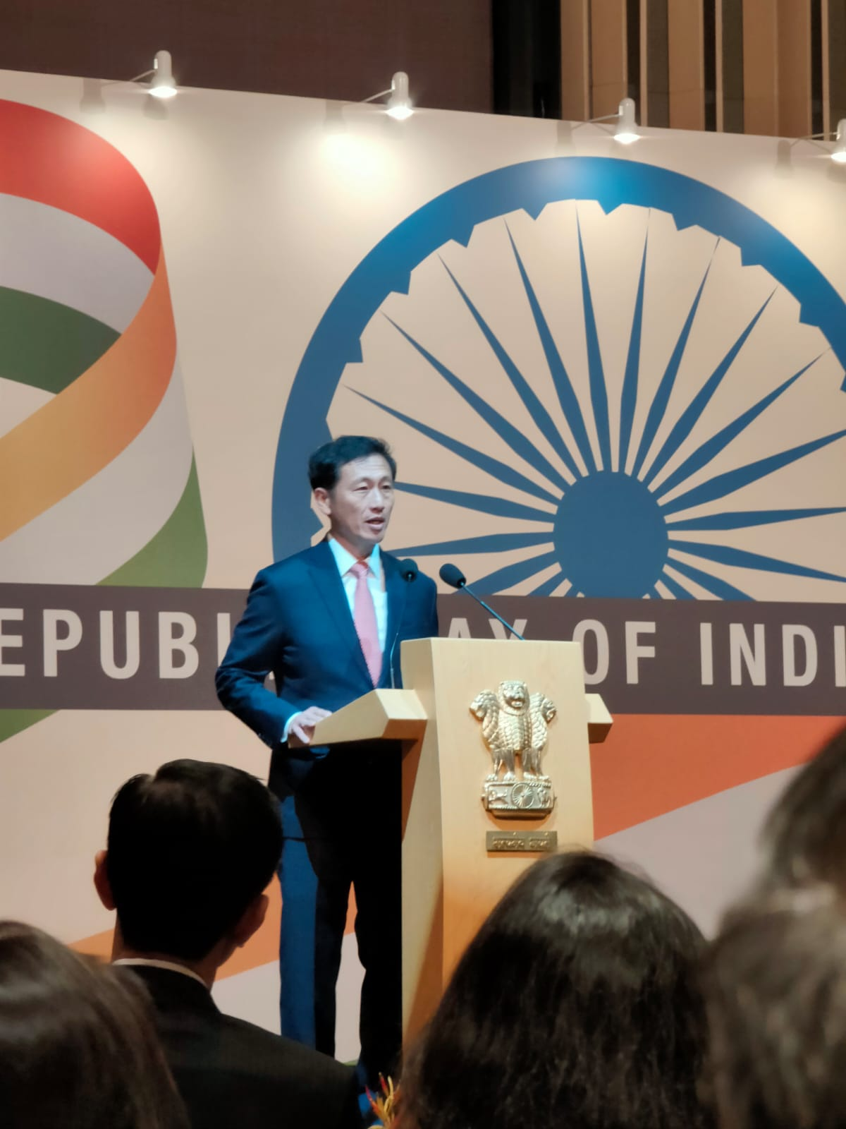 Minister Ong addressed the gathering, following which the National Anthem of India was played. Photo: Connected to India
