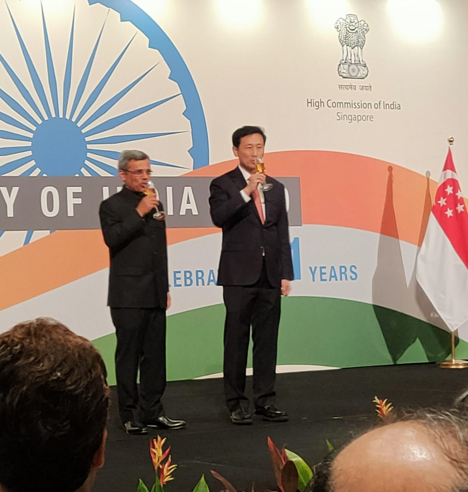 Jawed Ashraf, High Commissioner of India to the Republic of Singapore, joined the guest of honour for the toast. Photo: Connected to India