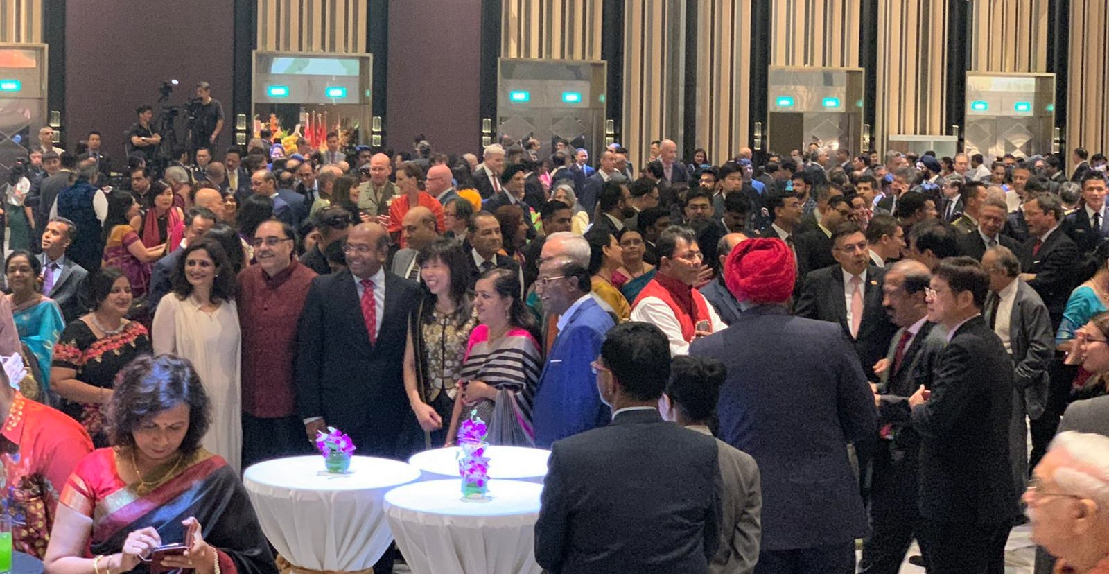 More than 1500 distinguished guests joined in the grand celebrations of the 71st Republic Day of India in Singapore. Photo: Connected to India