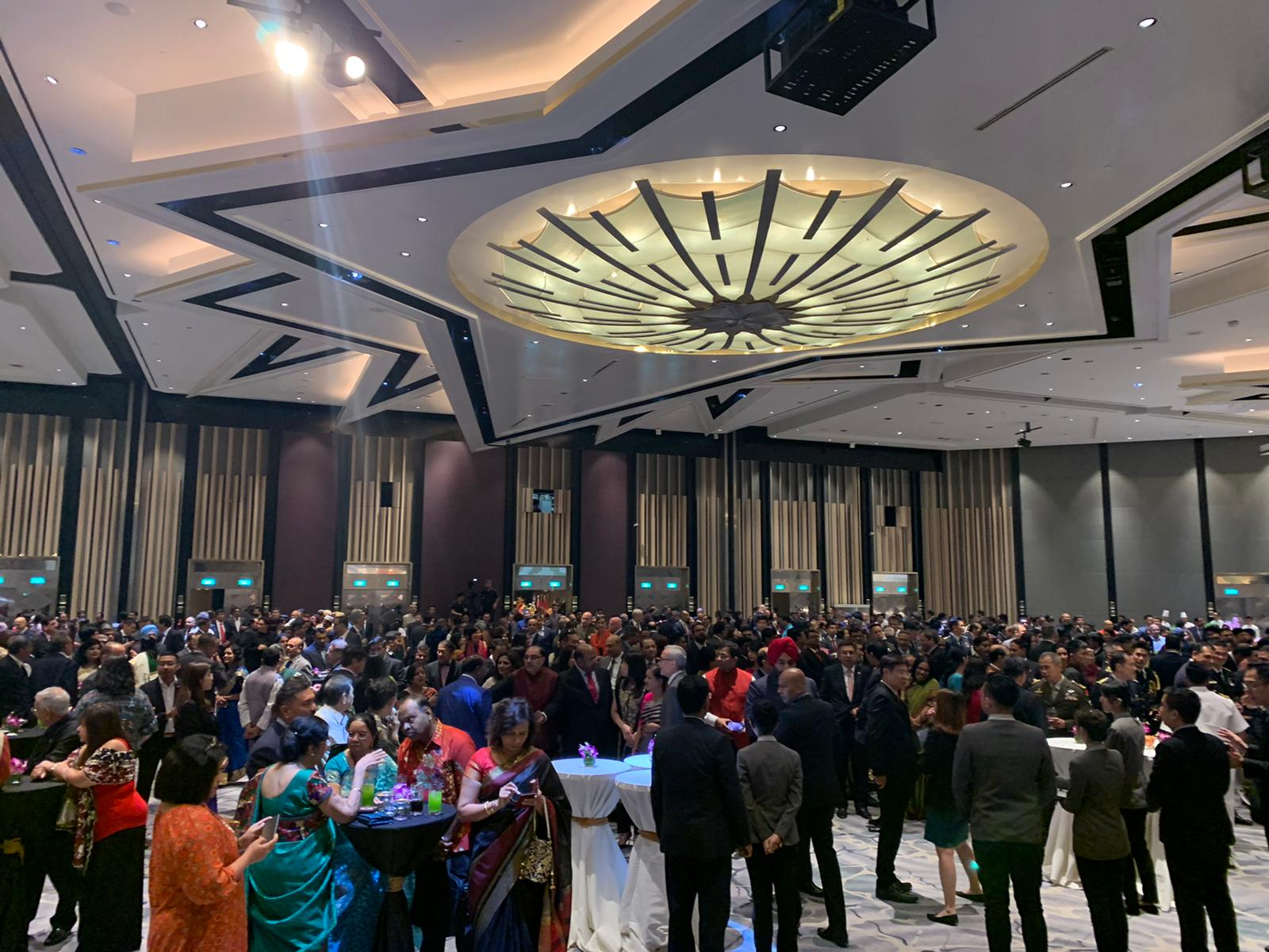 A grand reception, perhaps the first of its kind, was hosted by the High Commissioner of India to Singapore, H.E. Jawed Ashraf to celebrate the 71st Republic Day of India, which falls on 26 January. Photo: Connected to India