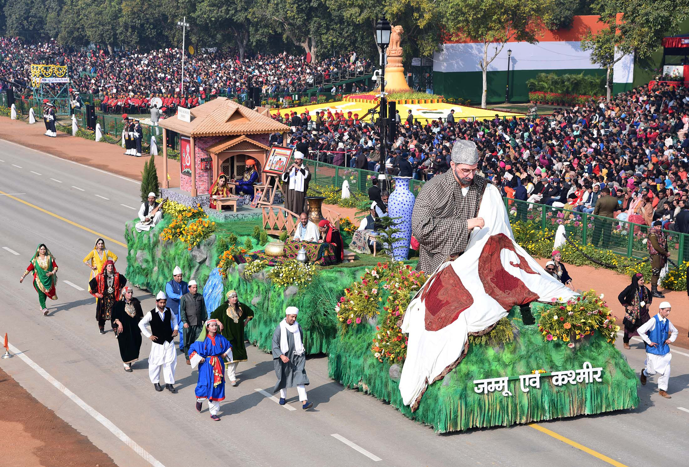 The tableau of Jammu & Kashmi PIB