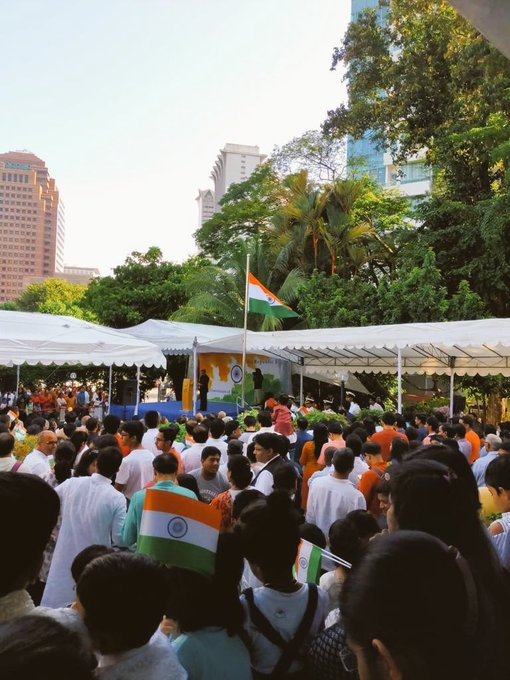 Nearly 1200 members of the Indian community attended the 71stRepublicDay celebration with great enthusiasm in Singapore @IndiainSingapor