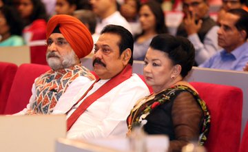 i Rajapaksa and I participated at the cultural event organized by the Indian High Commission in Colombo, celebrating the 71st Indian Republic Day @PresRajapaksa
