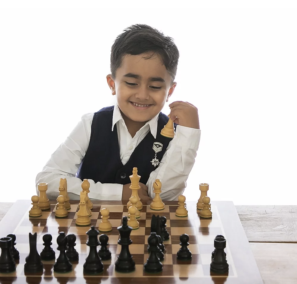 Young chess prodigy Nivaan Khandhadia was introduced to chess at the age of four by his father, and the rest is history. Photo courtesy: Nivaan