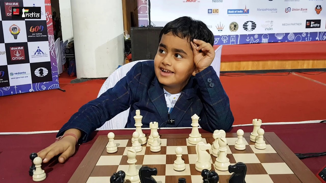 Nivaan trains three to six hours a day on average. Photo courtesy: ChessBase India