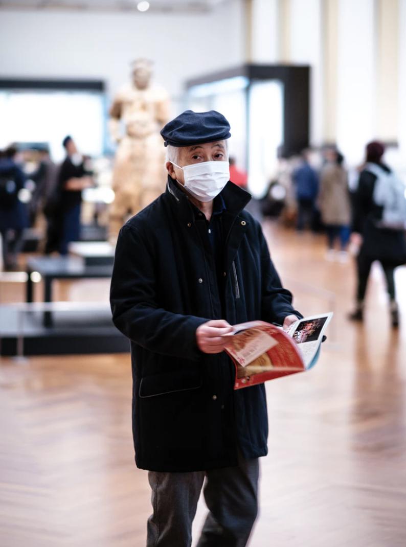 Man wearing a face mask. Photo courtesy: unsplash