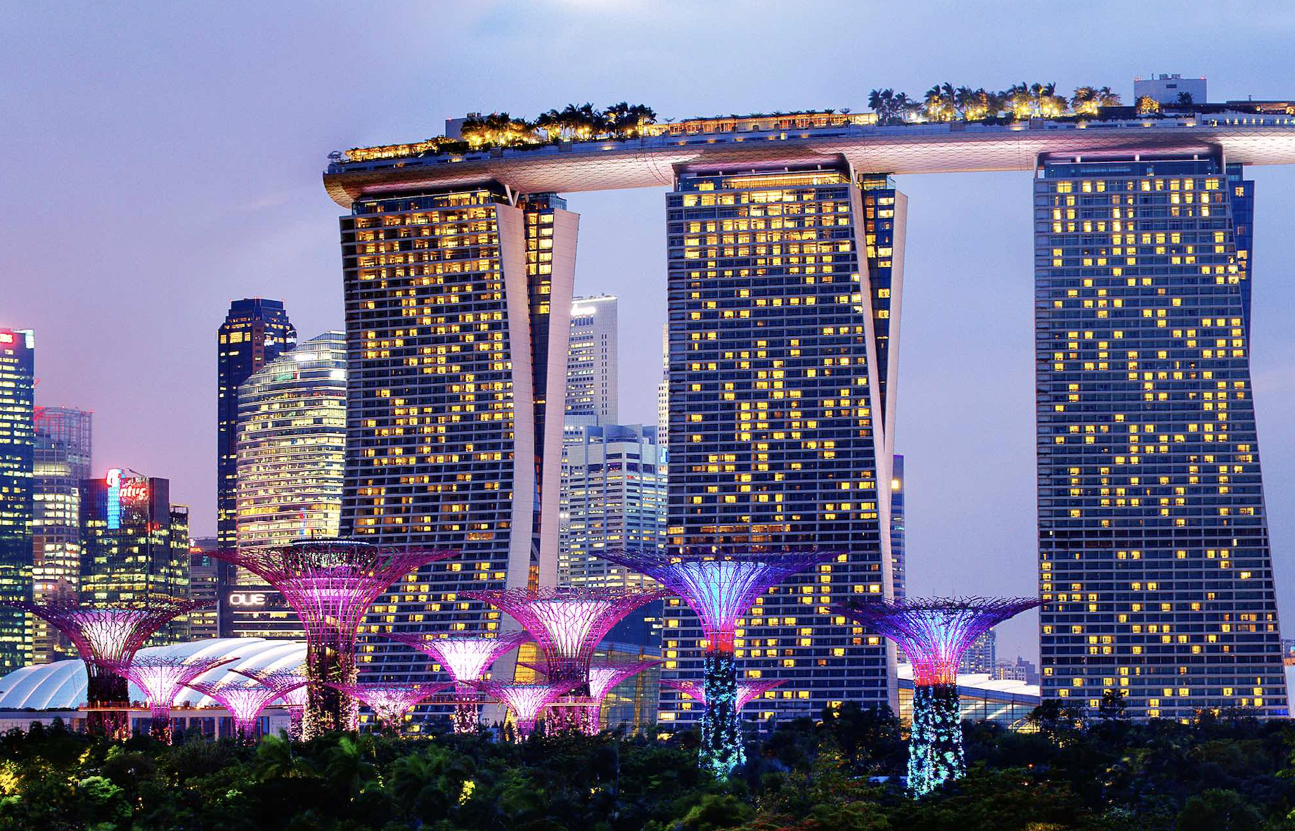 Marina Bay Sands and Gardens by The Bay. Photo courtesy: visitsingapore.com