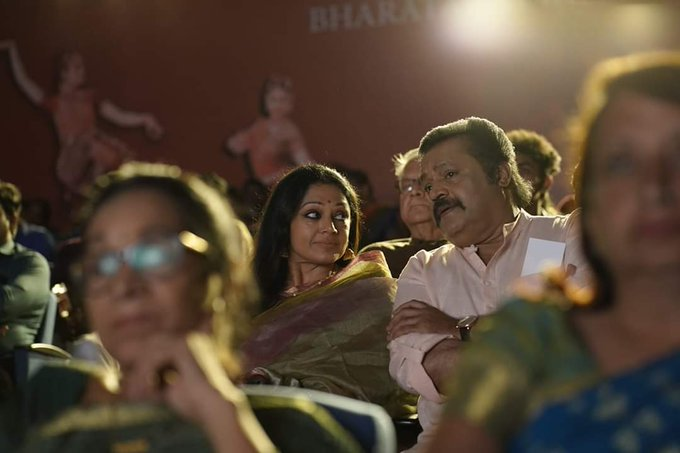 The 90s actors Suresh Gopi and Shobana have aged gracefully and act with a lovely maturity. Photo: Twitter