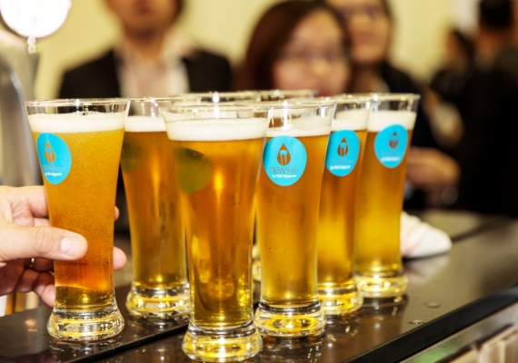 NEWBrew is made from NEWater, Singapore's very own brand of recycled water produced by PUB. Photo courtesy: Brewerkz