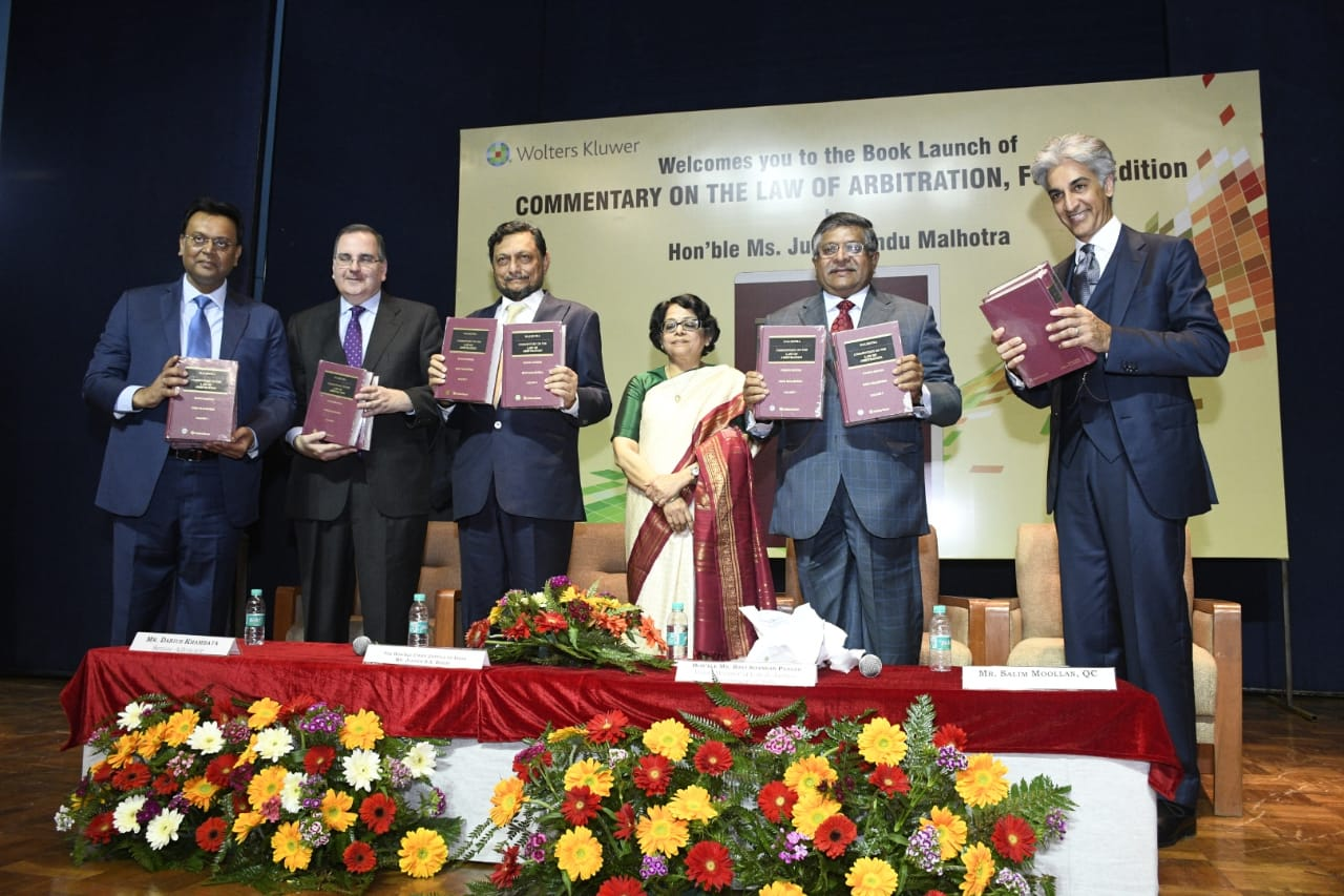 4th Edition of Commentary on Law of Arbitration by Justice Indu Malhotra in presence of Chief Justice of India, Justice S.A. Bobde.