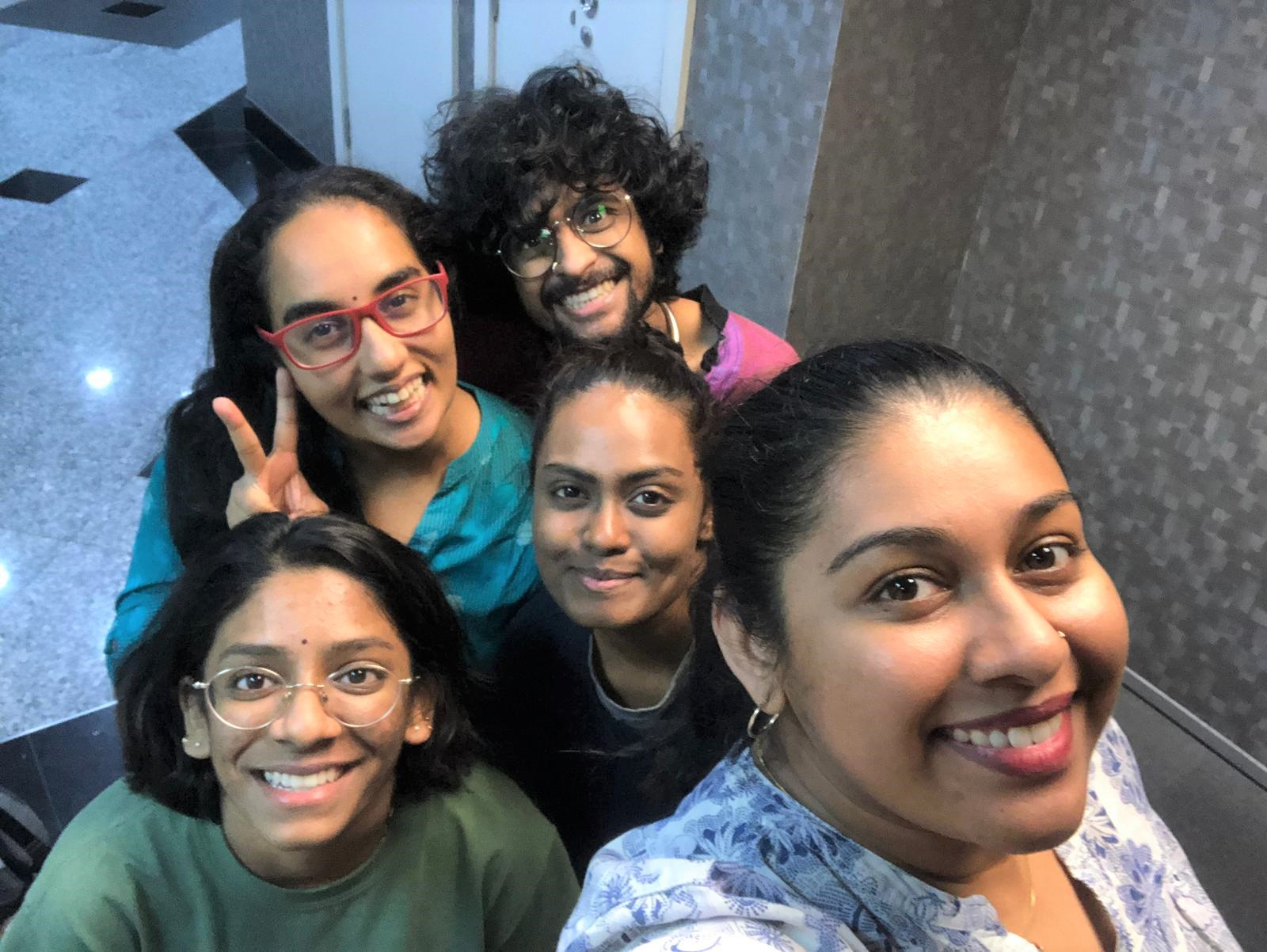 Between 5 Cows and the Deep Blue Sea is Brown Voices Collective first event of 2020, presented as part of Esplanade - Theatres on the Bay's Raga Series, by the cast of Sajini and Kewel Kartik directed by Rebekah Sangeetha Dorai and written by A. Yagnya. Photo Courtesy: Esplanade