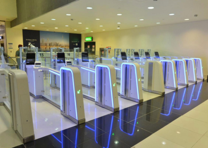 Smart Gates at Dubai Airport: Photo Courtesy: Dubai Airport Authority Twitter