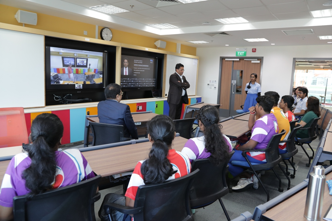 Students in GIIS schools worldwide can now connect to virtual classes remotely through the digital classrooms. Photo courtesy: GIIS