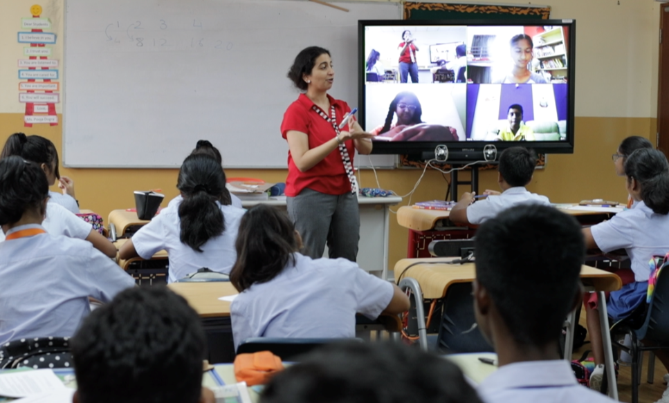 The digital classrooms are wi-fi enabled spaces equipped with the latest audio-visual technologies. Photo courtesy: GIIS