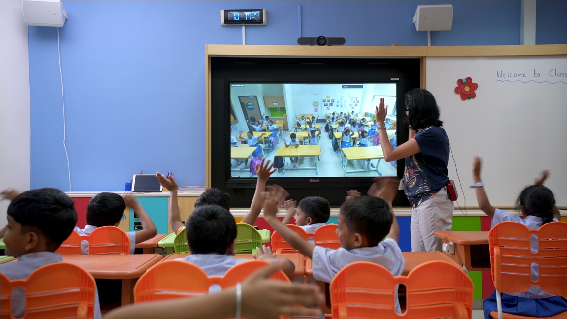 Virtual classrooms minimise the impact of any kind of disruptions to students in their learning. Photo courtesy: GIIS