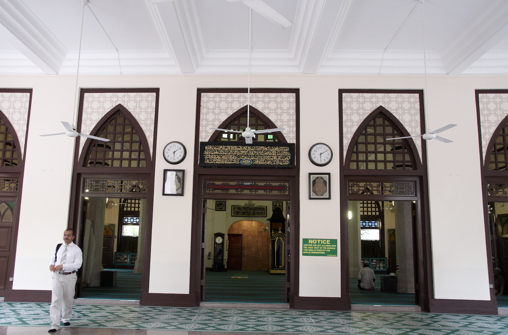 An interior view of the Hajjah Fatimah Mosque. Photo courtesy: Singapore Tourism Board