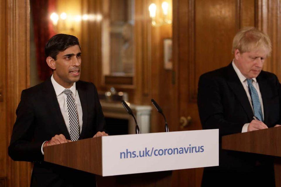 Finance minister Rishi Sunak with UK Prime Minister Boris Johnson. Photo courtesy: Facebook/Rishi Sunak
