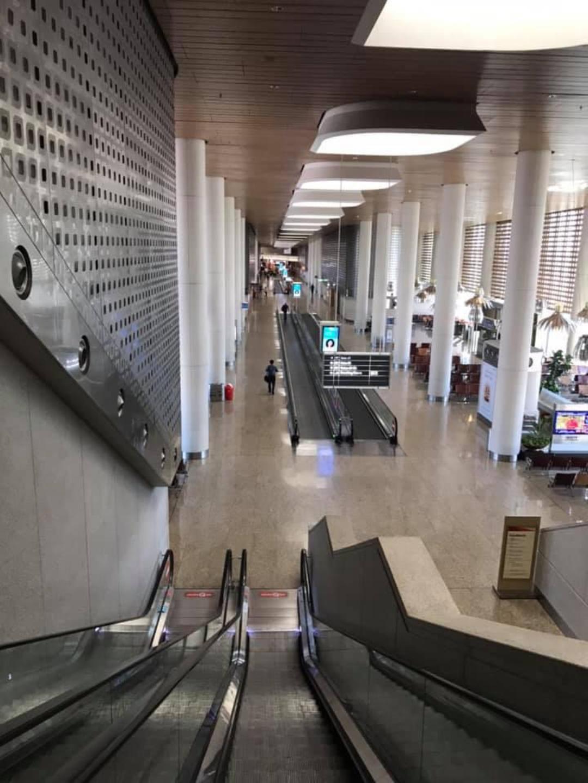 A deserted Terminal 2 at Mumbai airport in India. Photo courtesy: Rajesh Sundaram