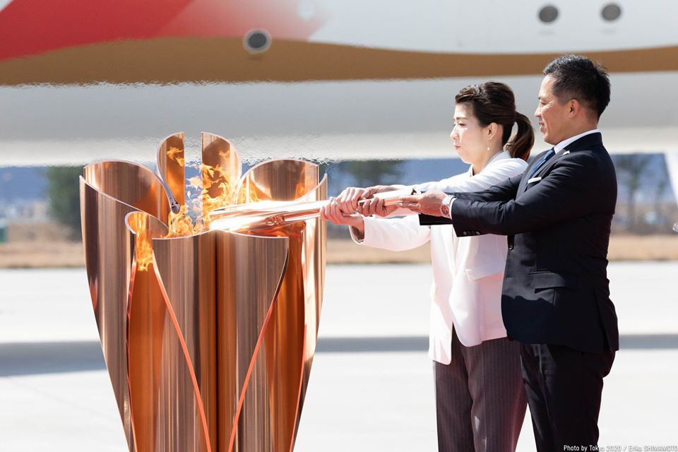 The Olympic flame will remain in Japan. Photo courtesy: Facebook/Tokyo 2020