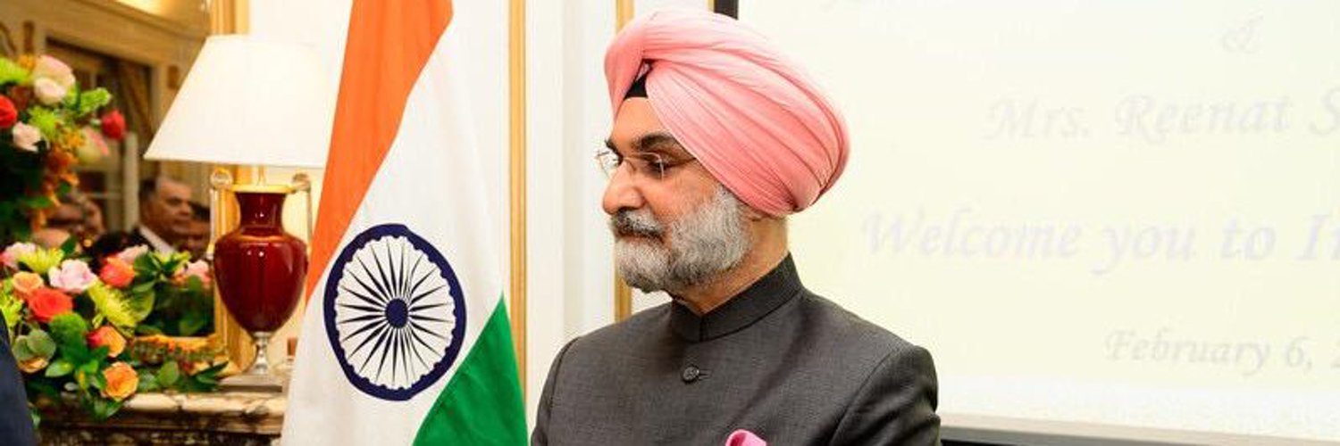 India's Ambassador to the US, Taranjit Singh Sandhu. Photo Courtesy: Twitter