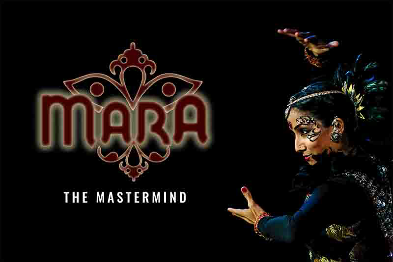 Mara - The Mastermind was a multimedia production performed at Esplanade Theatres, Singapore with music composed and performed by the Aditya Prakash Ensemble. Photo Courtesy: Arte Compass FB