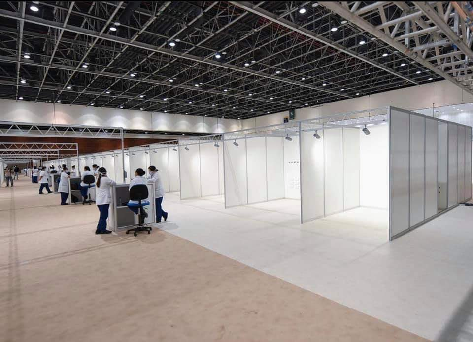The Dubai World Trade Centre was turned into a 3000 bed field hospital to handle COVID19. Photo Courtesy: DWTC Twitter