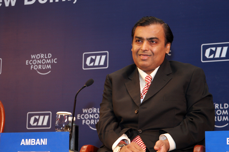 Mukesh Ambani has once again become the richest man in Asia after a mega deal with Facebook. Photo courtesy: World Economic Forum on Flickr