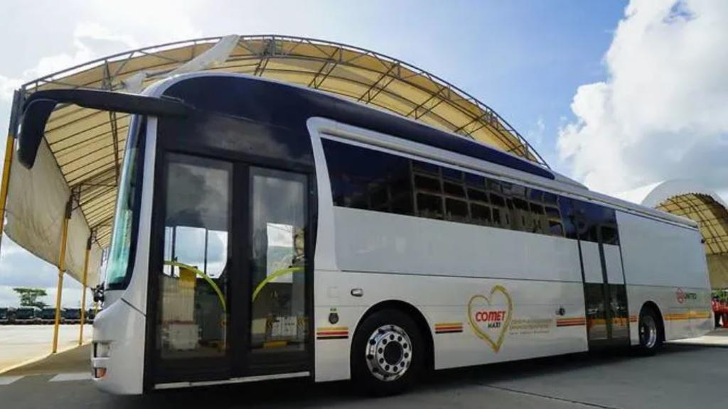 COVID-19 Multi-Passenger Enhanced Transporter (COMET MAXI) will help facilitate the mass transfer of passengers between facilities – including hospitals, dormitories and various community facilities. Photo courtesy: SMRT