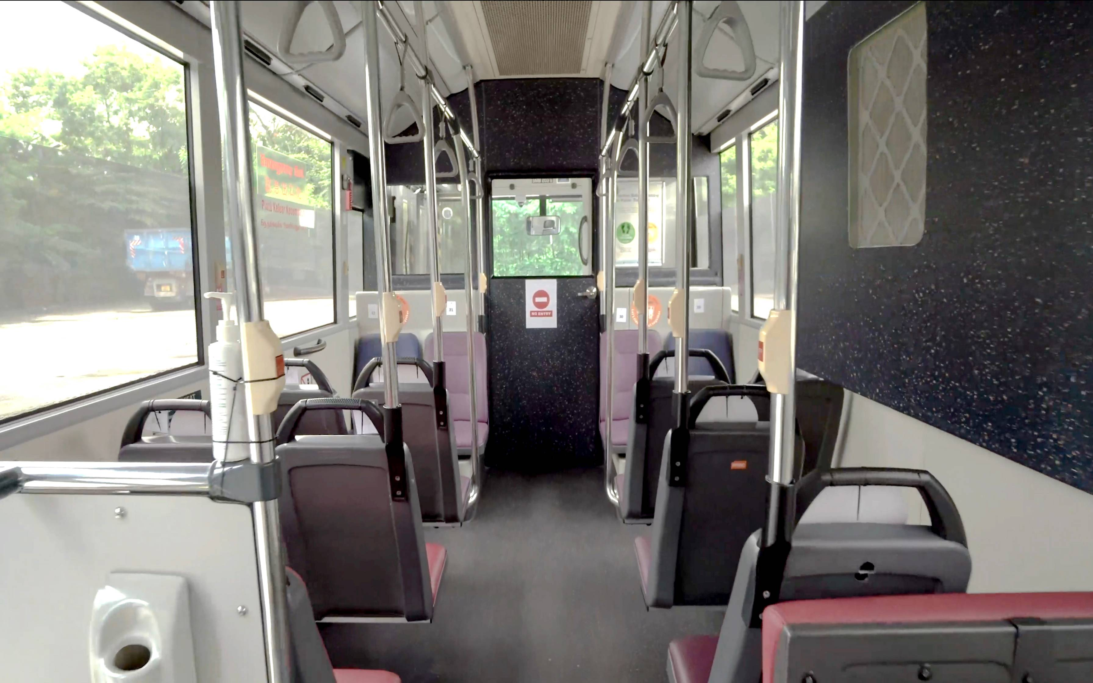 To ensure the safety of all on board, the COMET MAXI has the driver and the passengers located in two compartments separated by a completely sealed divider. Photo courtesy: SMRT