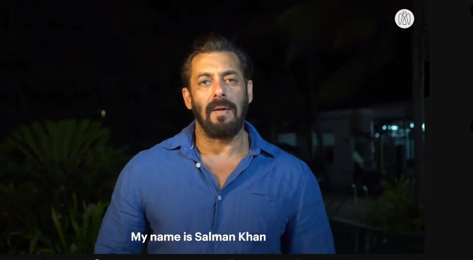 Bollywood actor Salman Khan roped in to convey a special message to Indian expats in the UAE, amid the coronavirus pandemic. Photo: Screengrab of video