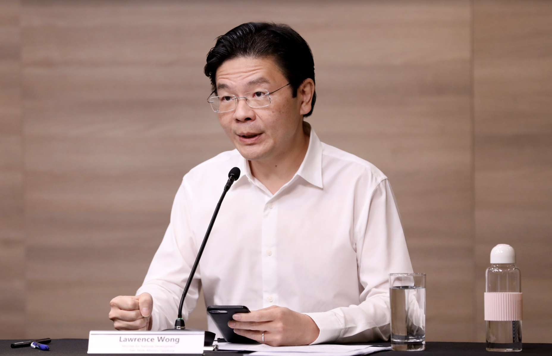 Minister Lawrence Wong, Co-chair of the multi-ministry taskforce on COVID-19. Photo courtesy: MCI
